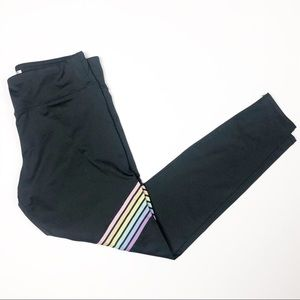 Forever 21 Rainbow Stripe Workout Pants